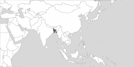 Map of Area Bangladesh