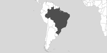 Map of Area Brazil