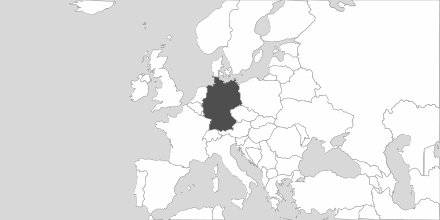 Map of Area Germany
