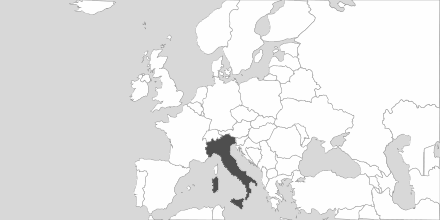 Map of Area Italy