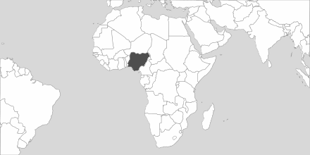 Map of Area Nigeria