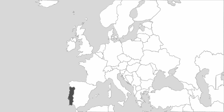 Map of Area Portugal
