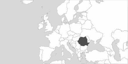Map of Area Romania